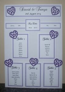 image is loading personalised a3 a2 wedding seating plan table planner