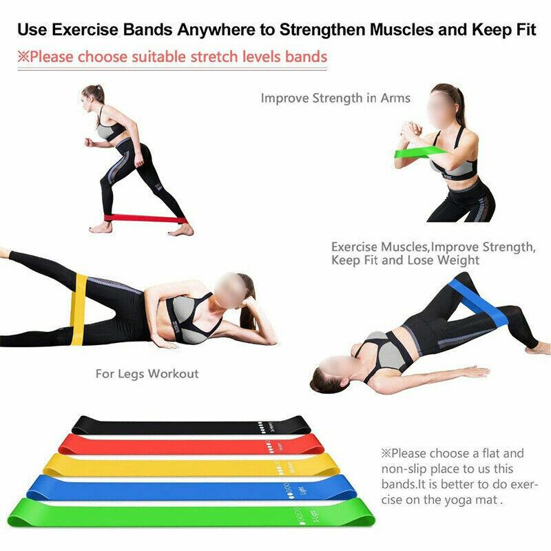 5X Widerstandsbänder Multifunction Loop Resistance Band Körperband Yoga Fitness
