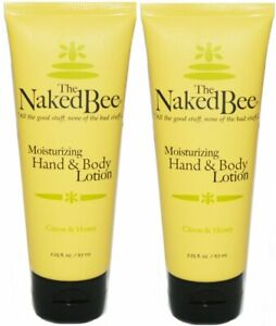 THE-NAKED-BEE-Citron-amp-Honey-Hand-Body-Lotion-TWO-PACK-travel-size-2-x-2-25-oz