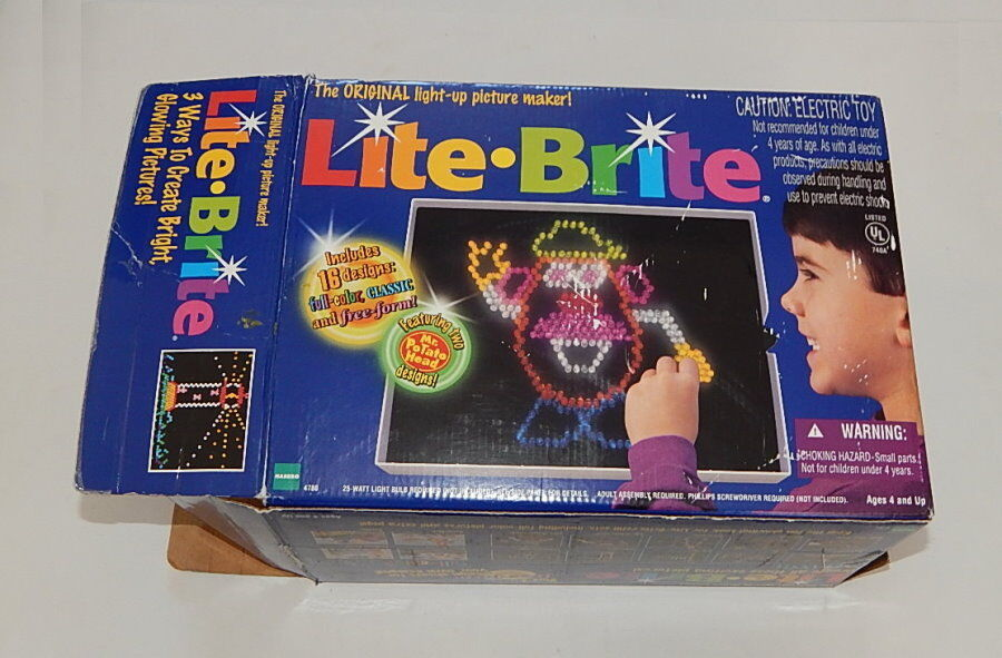 1998 LITE LIGHT BRITE BRIGHT PEGS LIGHT UP TOY GAME With BOX
