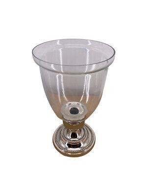 Decorative Nickel Hurricane Glass Feature Candle Holder ... on Decorative Wall Sconces Candle Holders Chrome Nickel id=66974