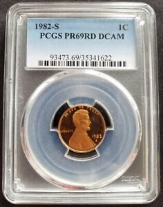 1982-S-Lincoln-Cent-PR69RD-DCAM-PCGS-Proof-69-Red-Deep-Cameo