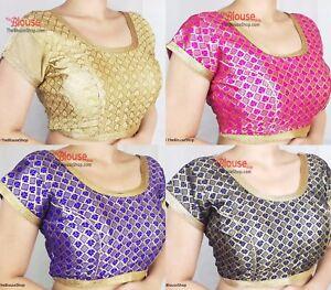 Saree Blouse New Readymade Designer Velvet Sari Choli Indian Party Wear Dress