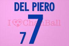 Del Piero #7 World Cup 2002 Italy Awaykit Nameset Printing
