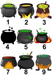 image is loading cauldron witches halloween small or large sticky white