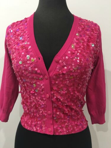 Jacket 10 Hill Sz Alannah Smukke Fashion Top Sequin Vintage Pink Designer Strik FZBaznqP