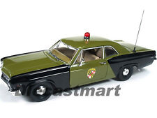 1966 CHEVROLET BISCAYNE MARYLAND STATE POLICE CAR 1:18 MODEL AUTOWORLD AMM1030