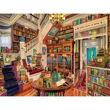 NEW White Mountain Reader's Paradise Endless Bookshop 1000 Piece Jigsaw Puzzle