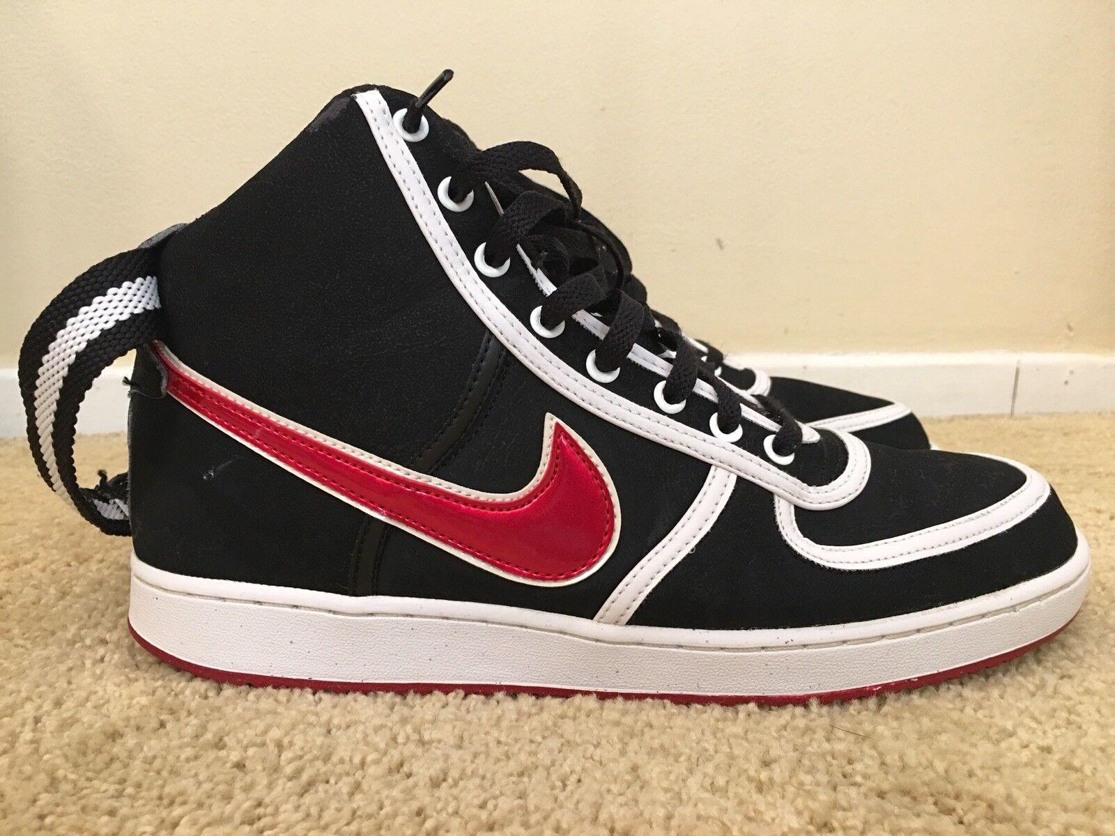 nike noire vandal haut prm, 309427-061, noire nike et rouge, les baskets, taille 11 0be48a