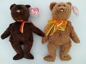 Ty Beanie Baby Babies Bears M.C. Beanie + M.C. Beanie V Mastercard exclusives