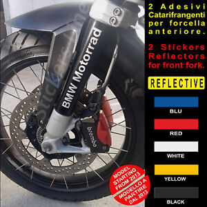 2-Adesivi-Catarifrangenti-FORCELLA-BMW-R1200GS-scritte-fork-reflective-stickers