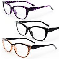 Bifocal Vision Cat Eye Women's Reading Glasses 200-350
