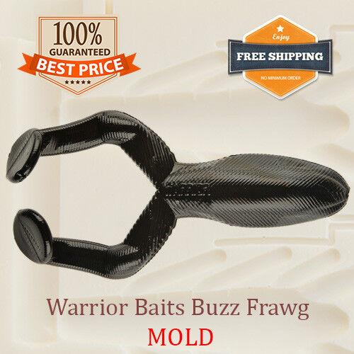 Warrior Baits Buzz Frawg Frog Fishing Mold Lure Bait Soft Plastic 63-96 mm