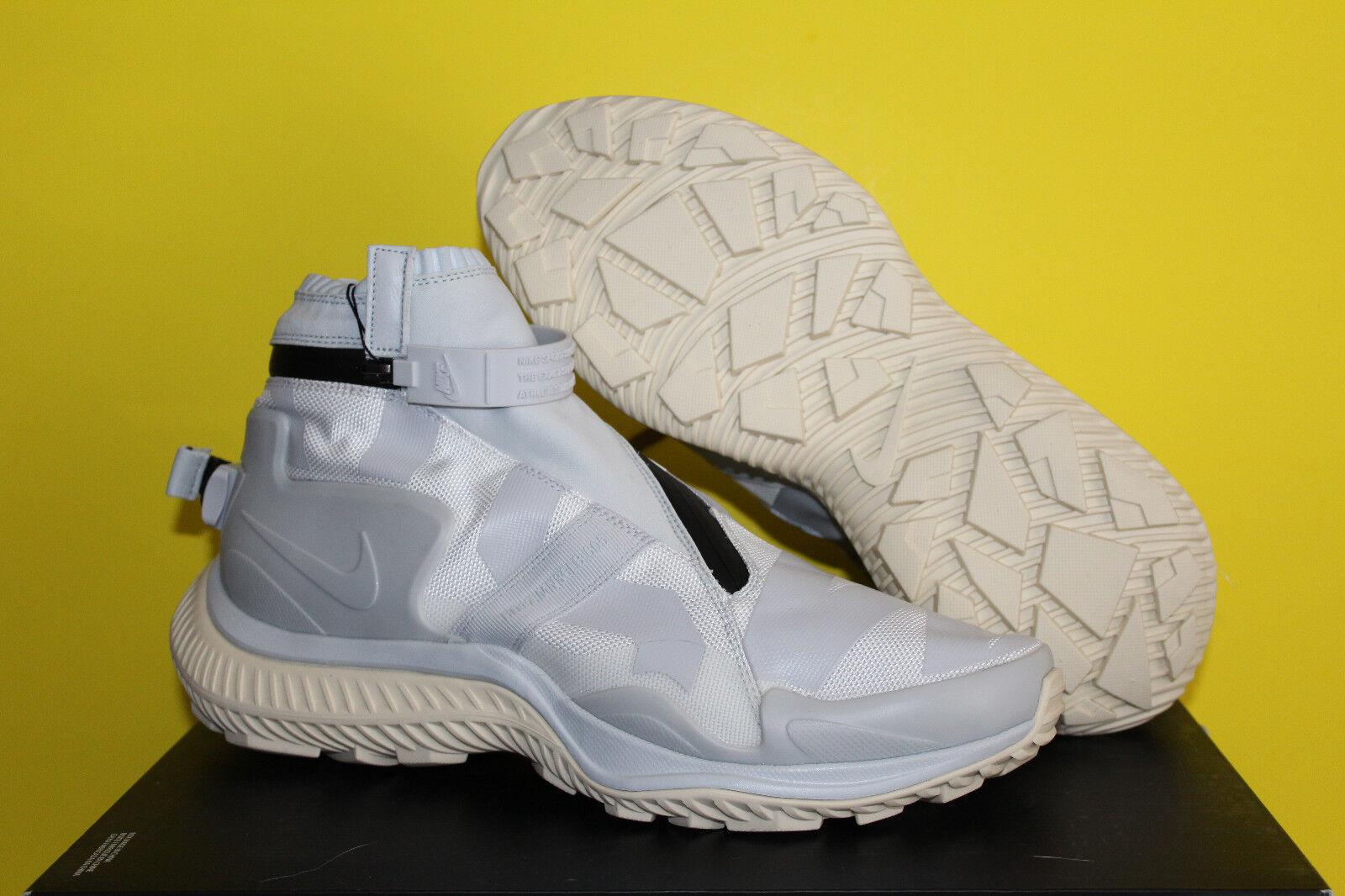 Nike NikeLab Gyakusou Gaiter Boot Men's Size 10  Pure Platinum  AA0530-100 DS
