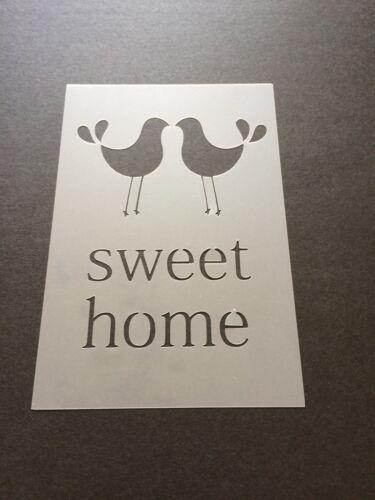 Sweet Home Mylar Reusable Stencil Airbrush Painting Art Craft DIY Home Decor