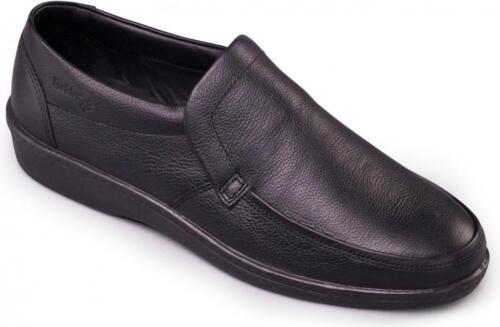 Padders DIGGER Mens Leather Slip-On Loafers Black UK 8 yTNXo5