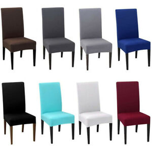 Details about 4PCS Dining Room Chair Covers Stretch Kitchen Chair Slipcover  Dining Chair Seat