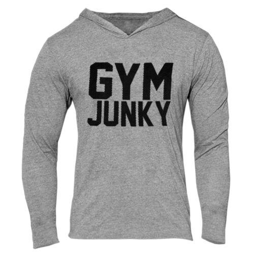 New Vintage Men Bodybuilding Gym Thin Shirts Long Sleeve Hoodies Casual T-shirt