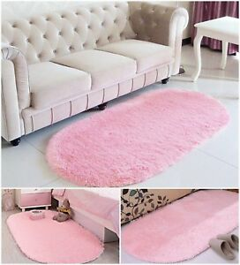 Details About Pink Area Rug Mat Super Soft Modern Kids Room Home Decor Gy Fluffy Rugs