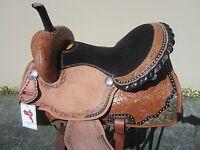 16 Barrel Racing Silver Show Custom Pleasure Floral Tooled Leather Horse Saddle