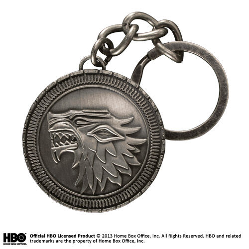 Game Of Thrones Stark Shield Metal Keychain NOBLE COLLECTIONS