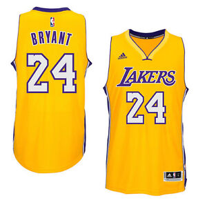d3d60f59b289 Kobe Bryant  24 Los Angeles Lakers Gold adidas Swingman Men s Home ...