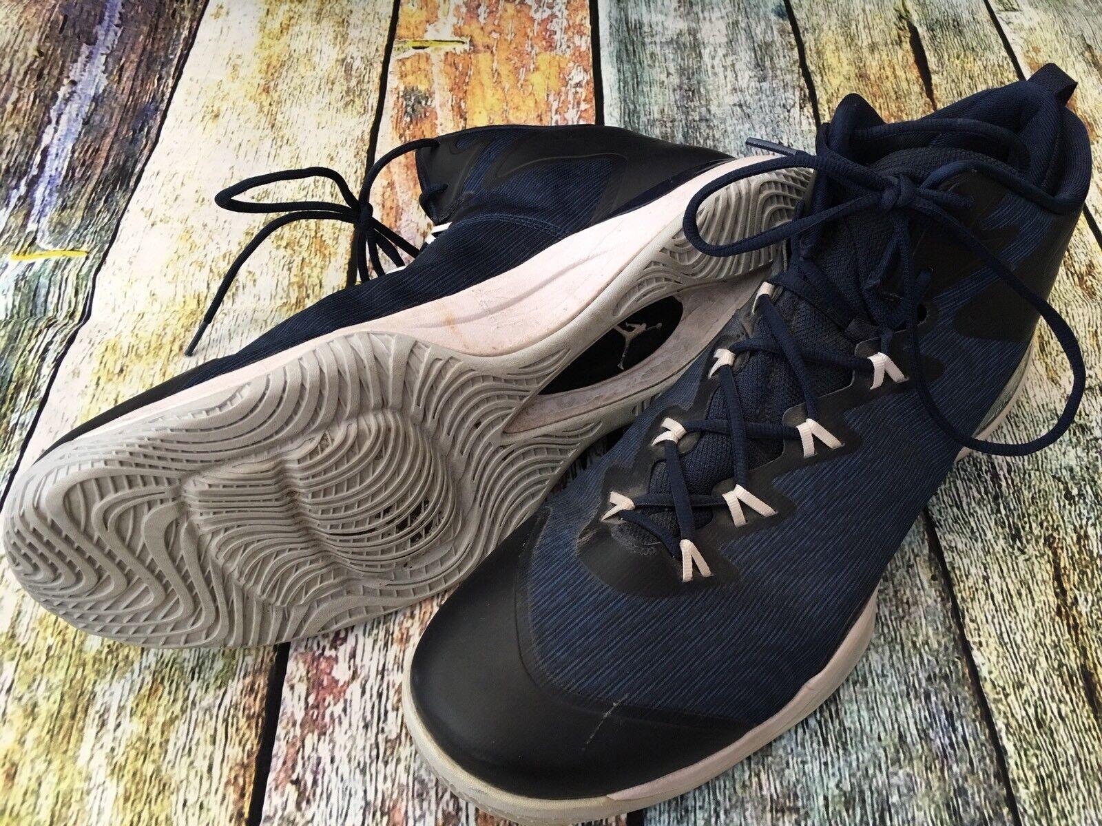 Nike Air jordan flight baloncesto Plate hombres zapatos de baloncesto flight de tamaño 18 nosotros 52,5 EU BLK / azul 15ed6c