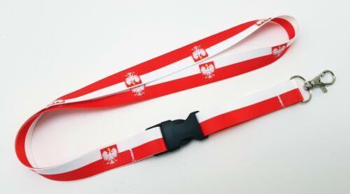 Polska Godło Orzeł Lanyard Neck Strap for Keys ID Card Holder 20mm 52 cm