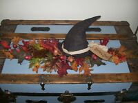 Witches Hat Fall Leaves Acorns Pine Cones Halloween Fall Centerpiece Swag