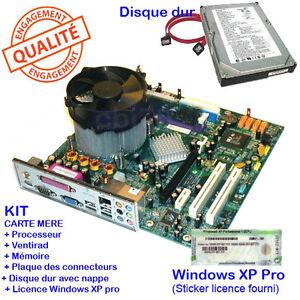 carte mere et processeur KIT Carte mère MICRO ATX Intel RC410 +Processeur +RAM +disque +