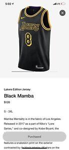 Details about NIKE KOBE BRYANT LA LAKERS BLACK MAMBA Limited Edition #8 #24 JERSEY Size XXL