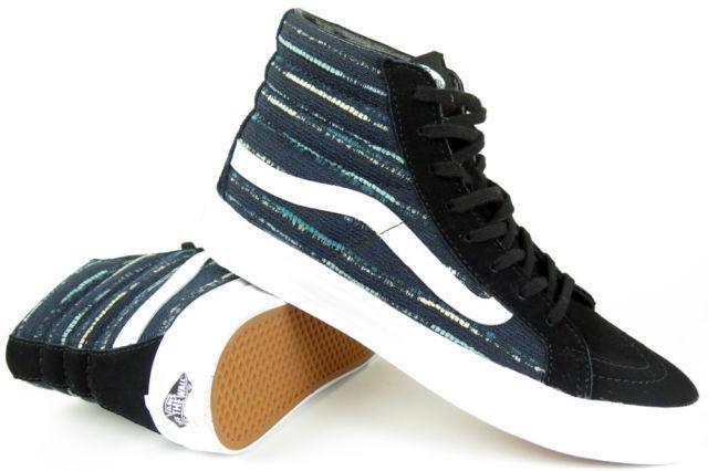 e91926ebd0 VANS Sk8 Hi Slim Italian Weave Black Multi Blue Shoes Mens 7.5 Womens 9 Sk8  for sale online