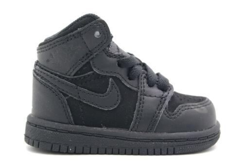 INFANTS SNEAKERS BLACK//VIOLET POP-CYBER 364773-018 TD AIR JORDAN 1 PHAT