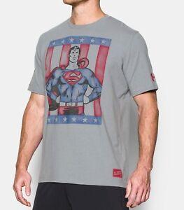 63f56301 Under Armour Men's UA Alter Ego Retro Superman Tshirt DC Comics Size ...
