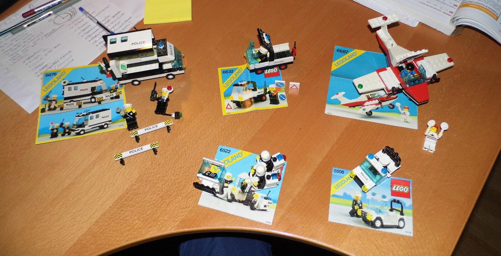 Lotto LEGO art. 6676 6632 6522 6687 6506  leggi   Vintage  Anni90  Polizia