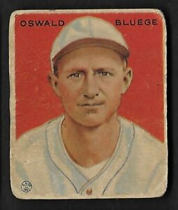 Details About 1933 Goudey Baseball Card 113 Oswald Bluege Gd