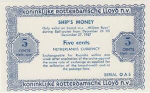 Niederlande-5-cents-Schiffsgeld-Netherlands-East-Indies-Rotterdam-Lloyd-034-Willem