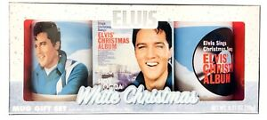 1X-Elvis-Presley-White-Christmas-Themed-Collectible-Double-Mug-amp-Cocoa-Set