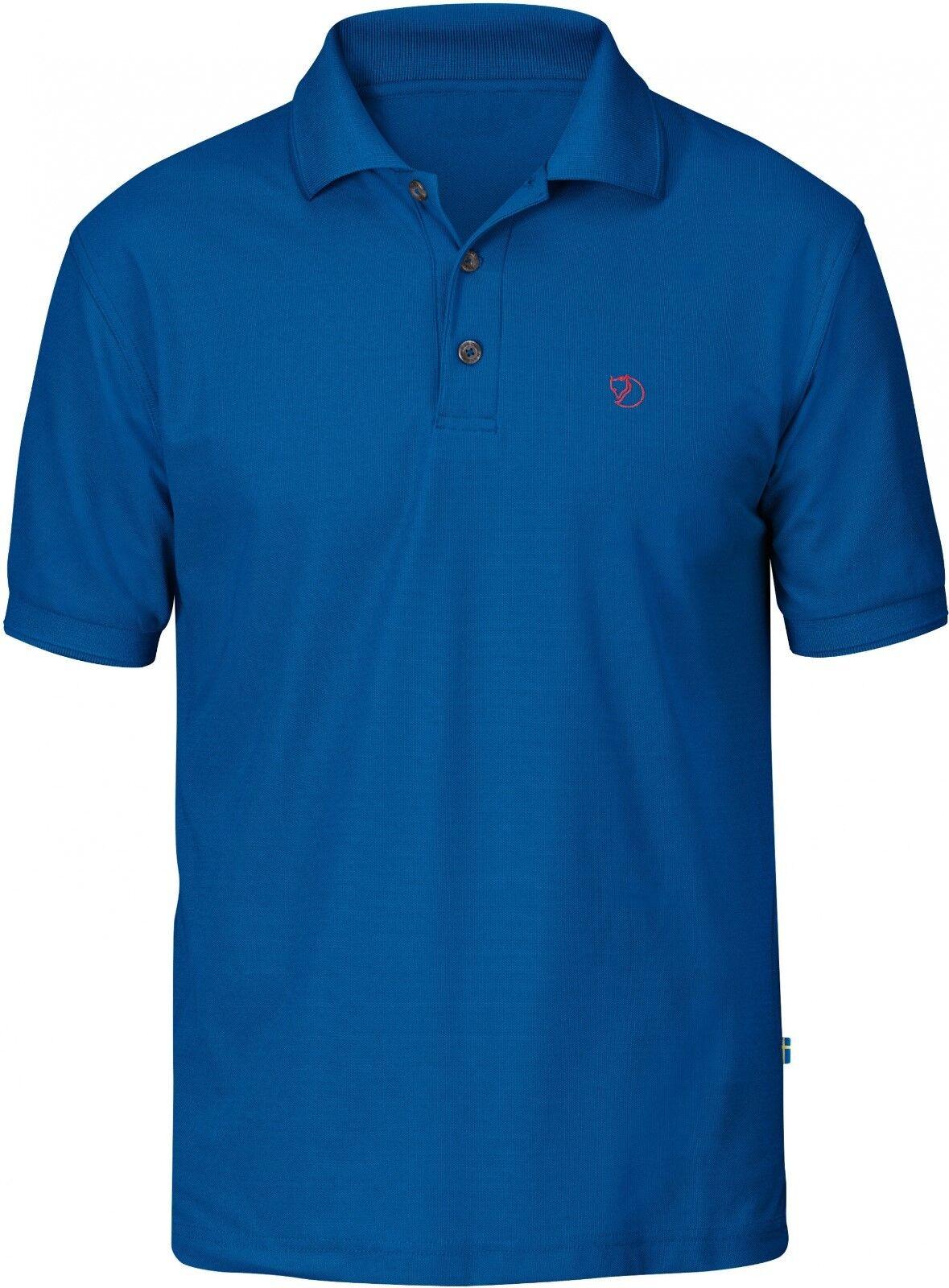 Fjäll Räven Crowley Pique Shirt for Men, Polo Shirt, Bay bluee, Size M