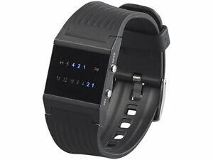 LED Binär Armbanduhr für Herren mit blauen LEDs Armband Herrenuhr Uhr Männeruhr