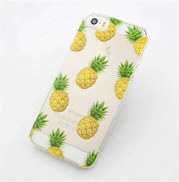 Fashion Fruit Pineapple Transparent Clear Case Cover for Iphone 5s 5c 6 & 6 plus