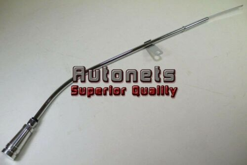 80-85 Billet Aluminum Handle Chevy SBC 305-350 Chrome Engine Oil Pan Dipstick