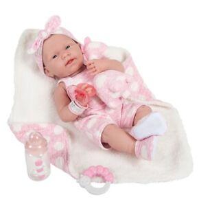 "La Newborn 15/"" Berenguer Doll In Pink Outfit /& Blanket  Real Girl #18053 Vinyl"