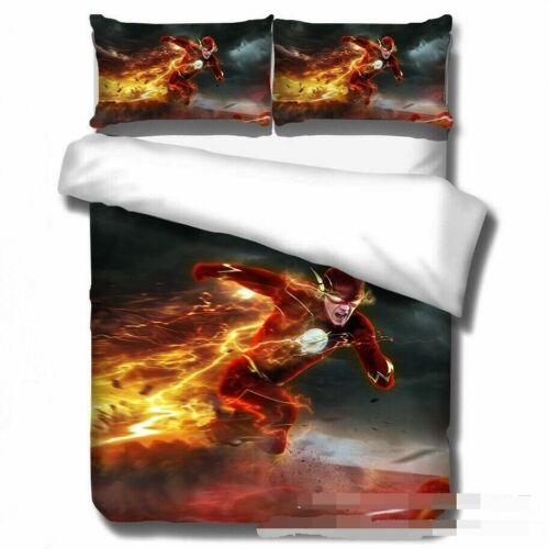 The Flash /& Arrow Bedding Set 3PCS 3D Duvet Cover Pillowcase Single Double King