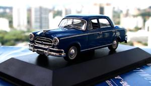 Peugeot 403 1960 –silverina Sällsynt tärningskast skala 1 43 Ny Sealead With Magazine