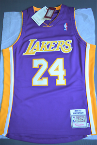 Détails sur Maillot Jersey NBA Mitchell & Ness AUTHENTIC Kobe BRYANT 24 Los Angeles LAKERS M