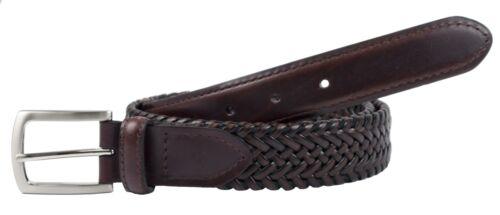 New Dockers Men/'s Tubular Leather Stretch Belt