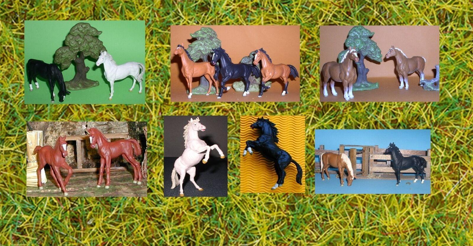 Preiser-Elastolin-caballos-potros variantes variantes variantes 1, escala 1 25 - pista g apto-GMK  precios al por mayor