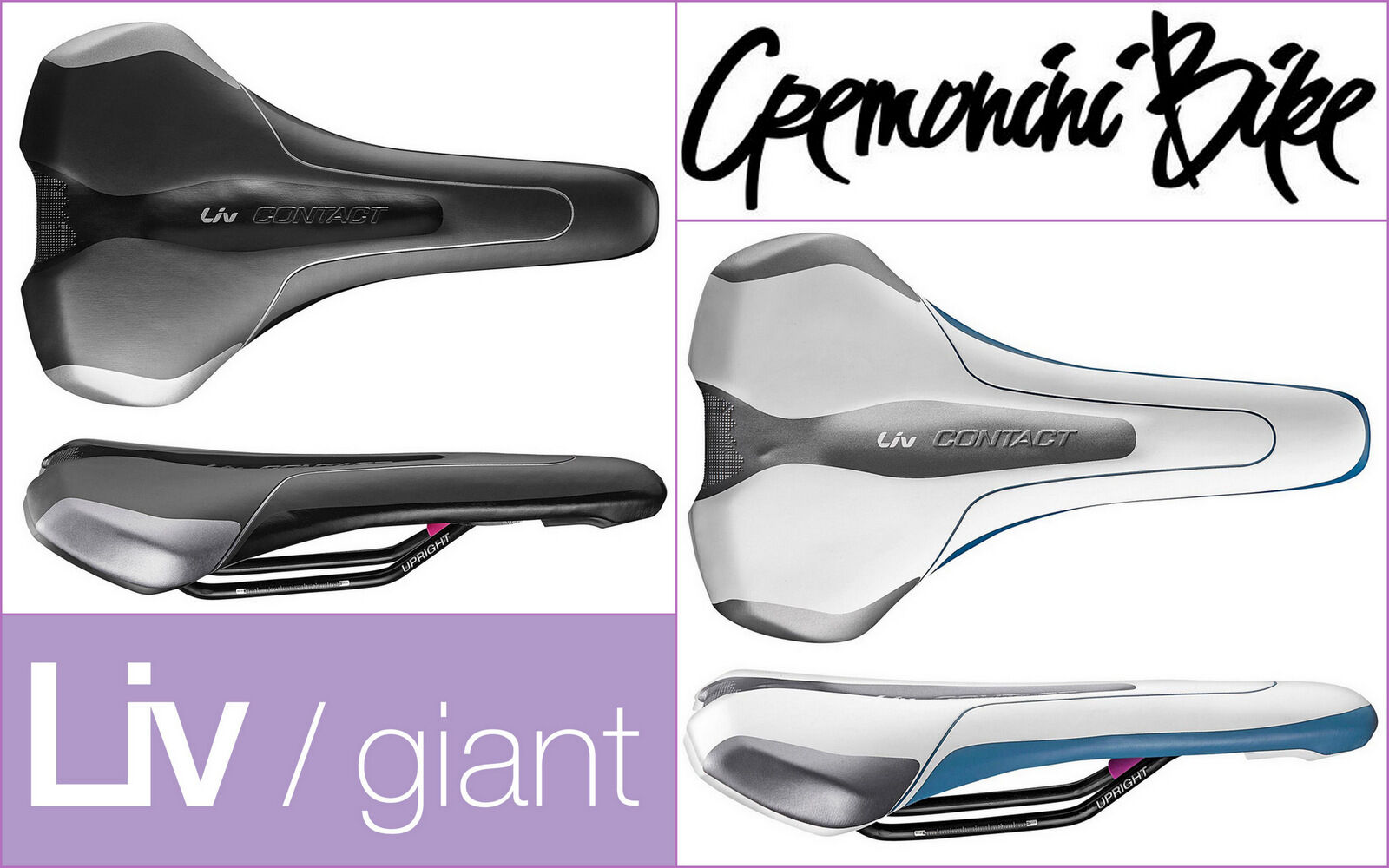 GIANT LIV CONTACT UPRIGHT sella sella sella bici woman bike saddle sellino ciclismo donna f0c438