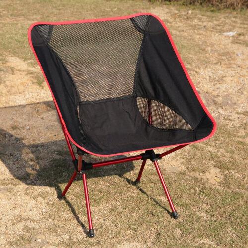 OUTAD Gartenstühle Klappstuhl Camping Stuhl Alu Ultraleicht mit Tasche Rot/A4L6